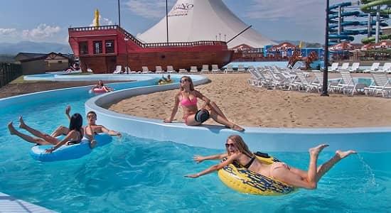 Baseny aquaparku Besenova