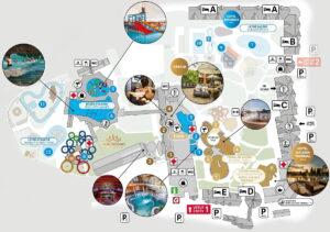Mapa aquaparku i hotelu Besenova